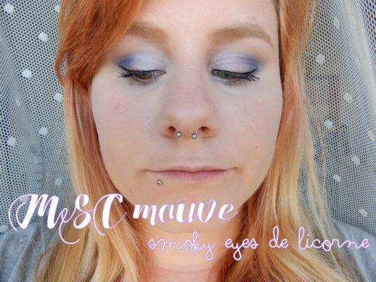 MSC mauve : smoky eyes de licorne